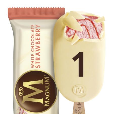 Magnum Magnum Strawberry White