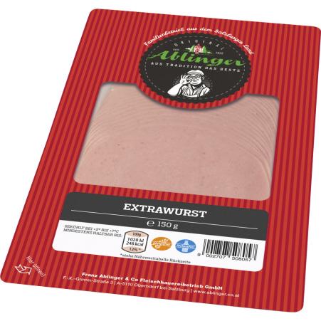 Ablinger Extrawurst geschnitten