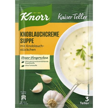 Knorr Kaiser Teller Knoblauchcremesuppe