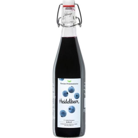 Tiroler Früchteküche Unterweger Sirup Heidelbeere 0,5 Liter