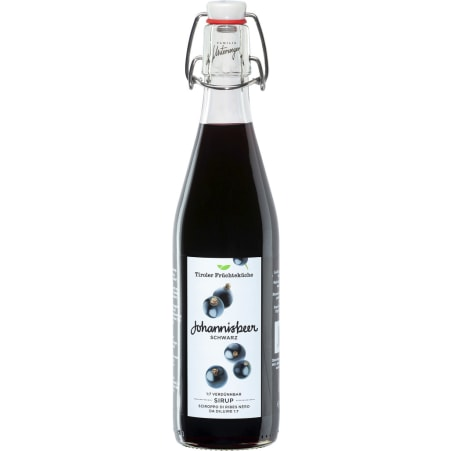 Tiroler Früchteküche Unterweger Sirup Johannisbeere 0,5 Liter
