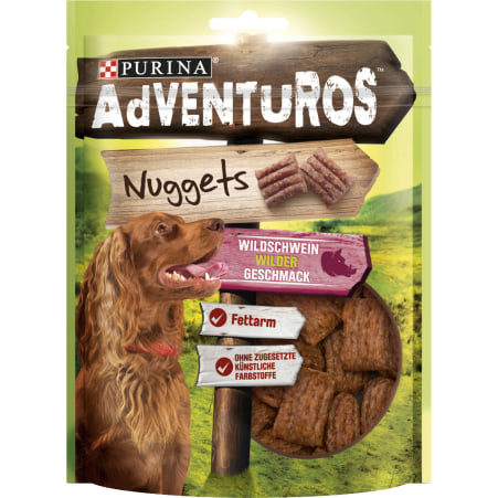 PURINA Adventuros Nuggets Wildschwein 90 gr