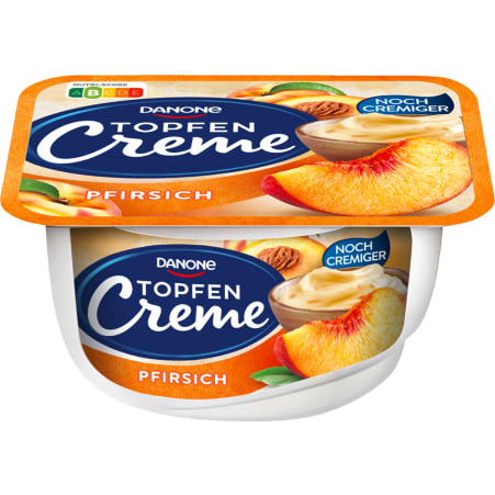 Danone Topfencreme Pfirsich