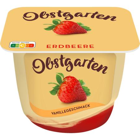 Danone Obstgarten Vanillegenuss Erdbeere