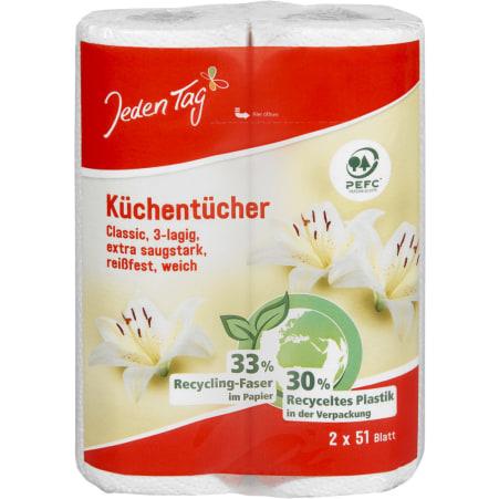 Jeden Tag Küchentücher 2x 51 Blatt 3-lagig