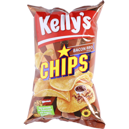 Kelly's Chips Bacon BBQ Style