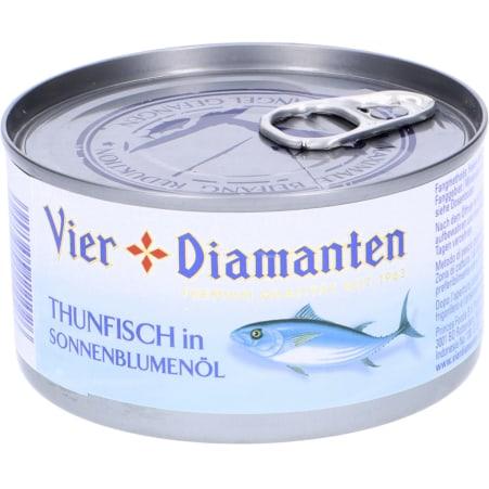 Vier Diamanten Thunfisch Sonnenblumenöl MSC