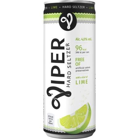 VIPER Hard Seltzer Lime 0,33 Liter Dose