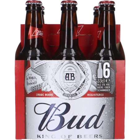 Budweiser Bier Tray 6x 0,33 Liter