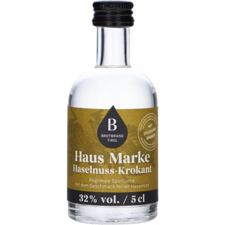 Therese Mölk Brotbrand Tirol Hausmarke Haselnuss-Krokant 32% 0,05 Liter