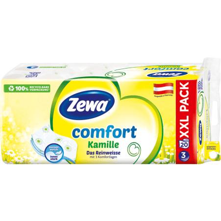 ZEWA Toilettenpapier Comfort Kamille 3-lagig 20x 150 Blatt