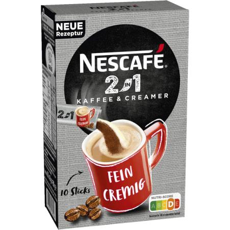 NESCAFE 2 in 1 löslicher Kaffee 10er-Packung