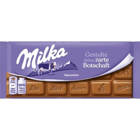 MILKA Schokolade Alpenmilch