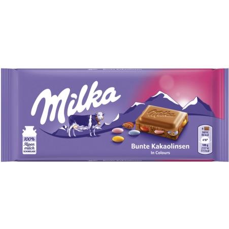 MILKA Schokolade Bunte Kakaolinsen