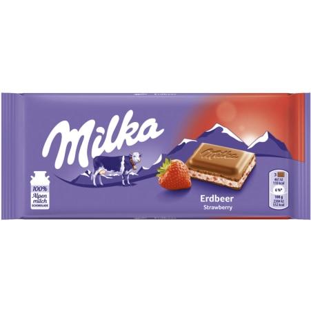 MILKA Schokolade Erdbeer 100 gr
