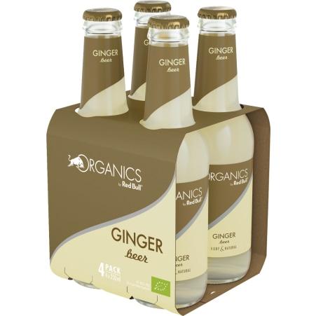 Red Bull Bio Organics Ginger Beer Tray 4x 0,25 Liter Glas