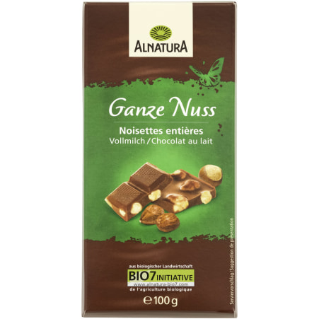 Alnatura Bio Vollmilch Schokolade Ganze Nuss