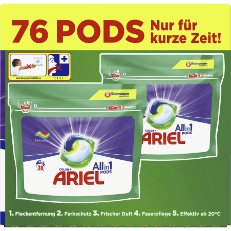 Ariel All-in-1 Pods Color 76 Waschgänge