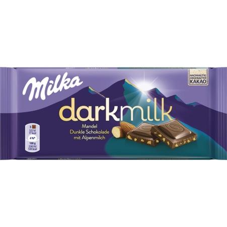MILKA Schokolade Darkmilk Mandel