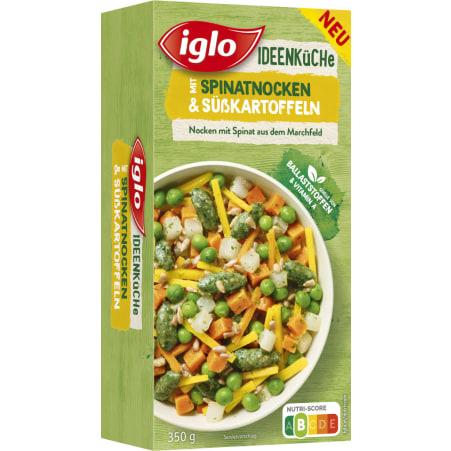 iglo Ideenküche Spinatnocken mit Süßkartoffel