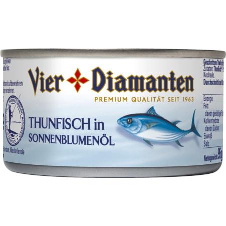 Vier Diamanten Thunfischfilets in Öl