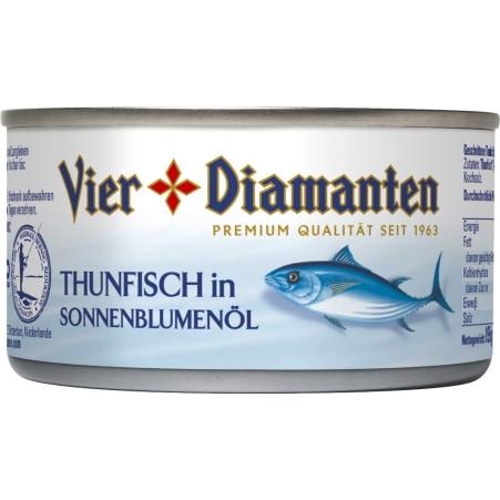 Vier Diamanten Thunfisch in Sonnenblumenöl