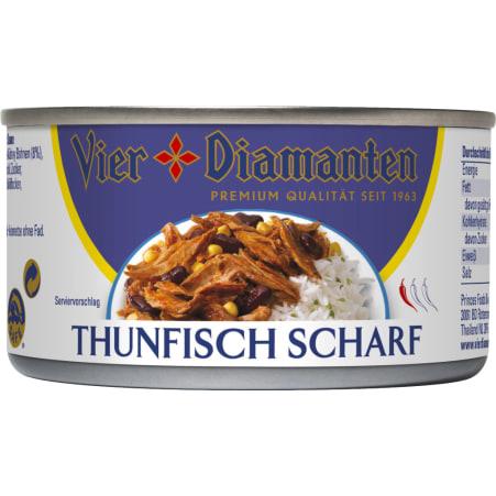 Vier Diamanten Thunfisch scharf