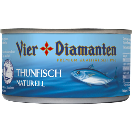 Vier Diamanten Thunfisch naturell