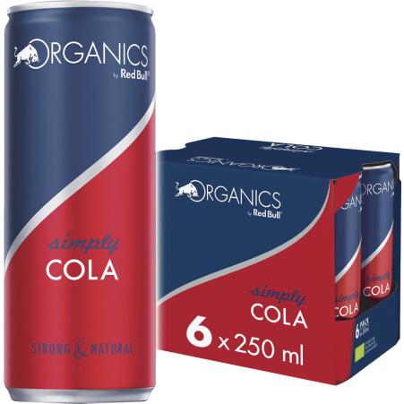 Red Bull Bio Organics Simply Cola Tray 6x 0,25 Liter