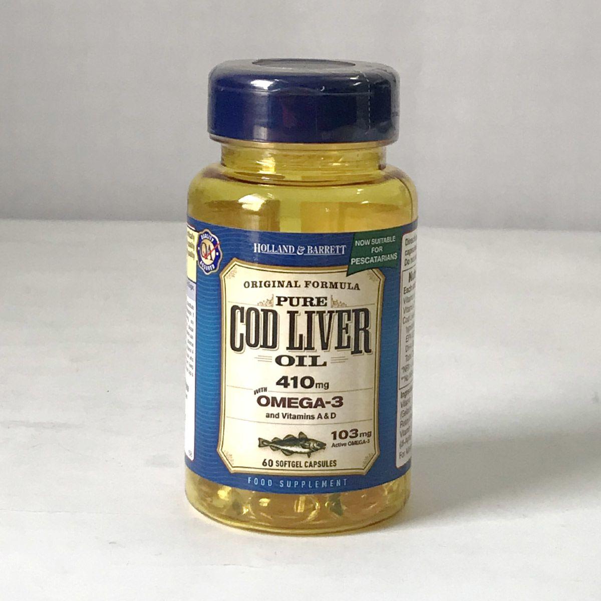 Holland & Barrett Omega-3 Cod Liver Oil 60 Capsule