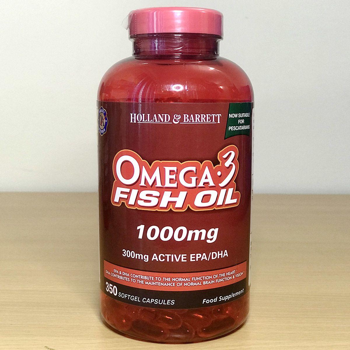 Holland & Barrett  Omega-3 fish oil 1000mg 350 capsule