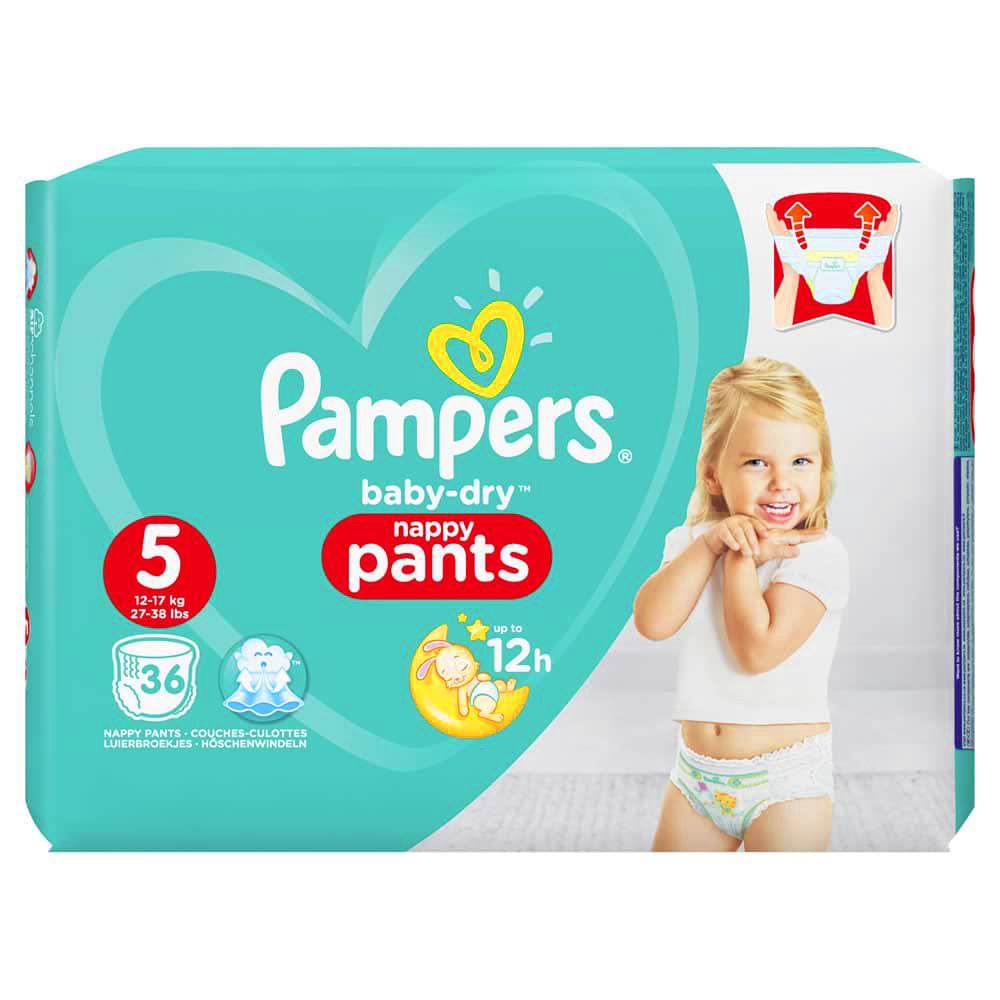 Pampers Baby-Dry Diaper Nappy Pants Diaper - Size 5 - 36 pcs / 72 pcs Jumbo Pack