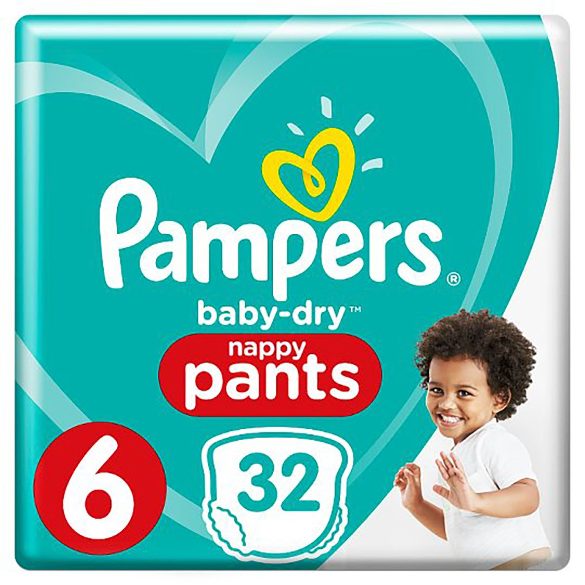 Pampers Baby-Dry Pants Nappy Pants Diaper - Size 6 - 32 pcs