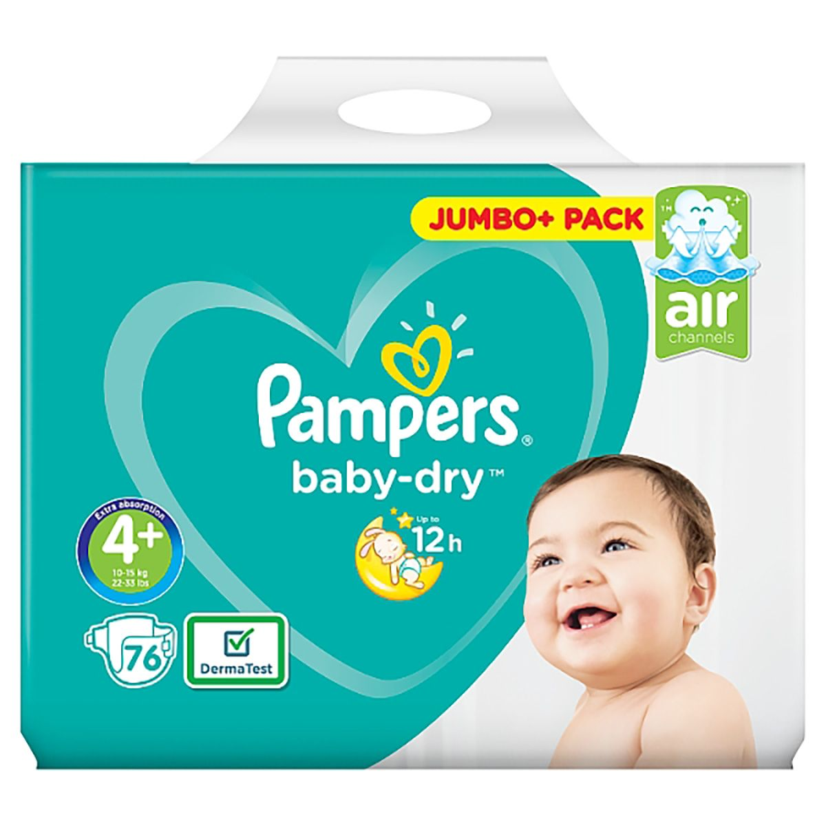 Pampers Baby-Dry Pants Nappy Pants Diaper - Size 4+ Jumbo Pack 76 pcs