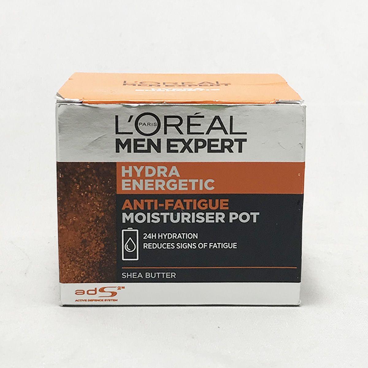 Loreal Paris Men Expert Hydra Energetic Anti Fatigue Moisturiser Pot 50 ml