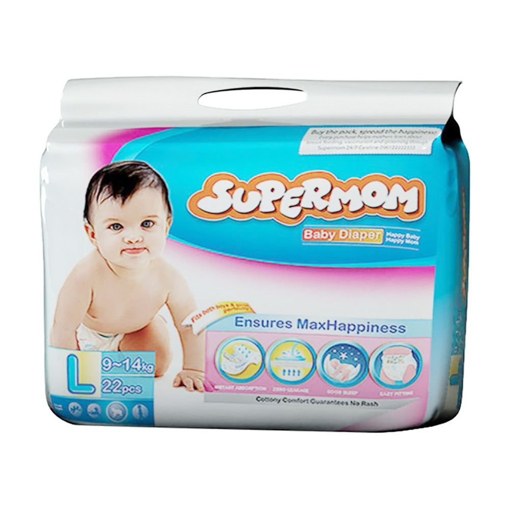 Supermom Baby Diaper Large 9-14kg L (22+2) pcs