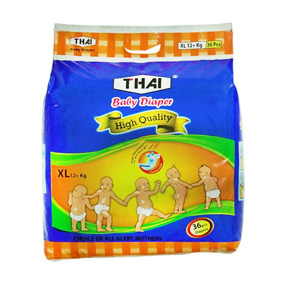 Thai Baby Diapers XL (12+ kg) 36 pcs