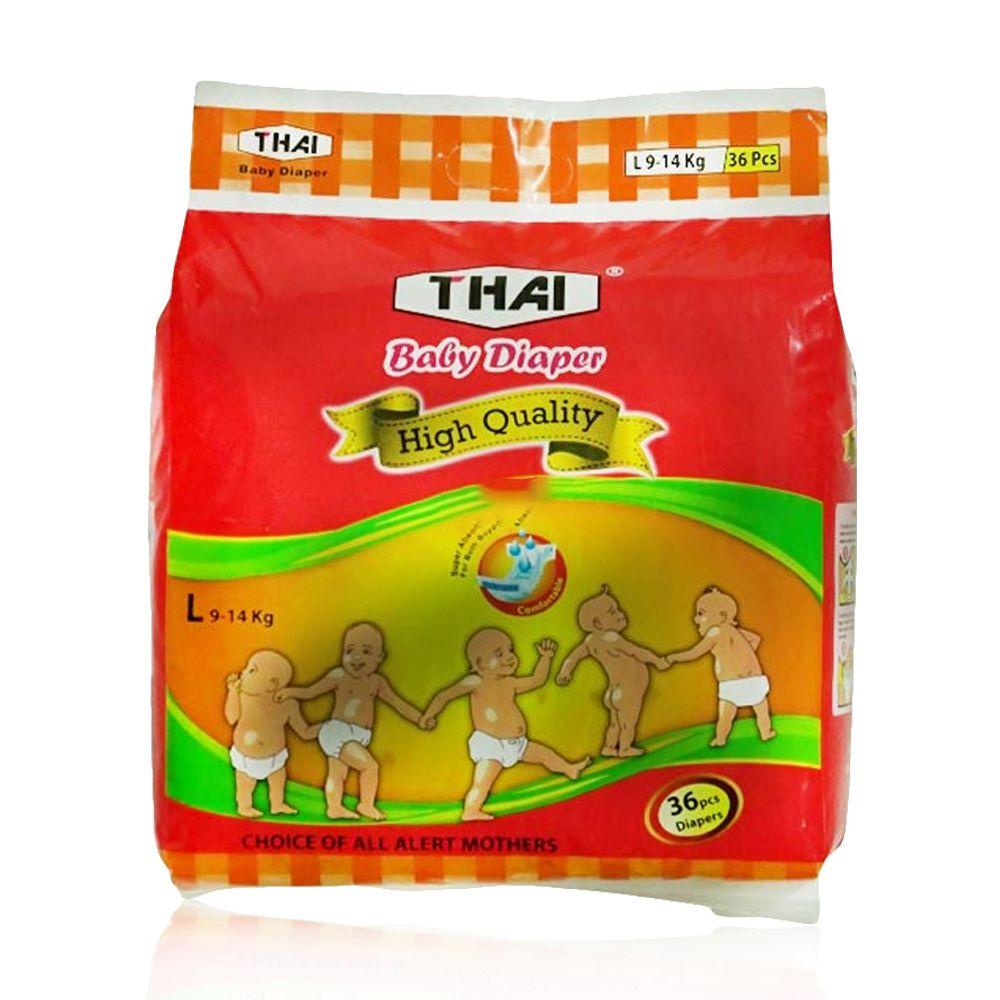 Thai Baby Diapers L (9-14 kg) 36 pcs