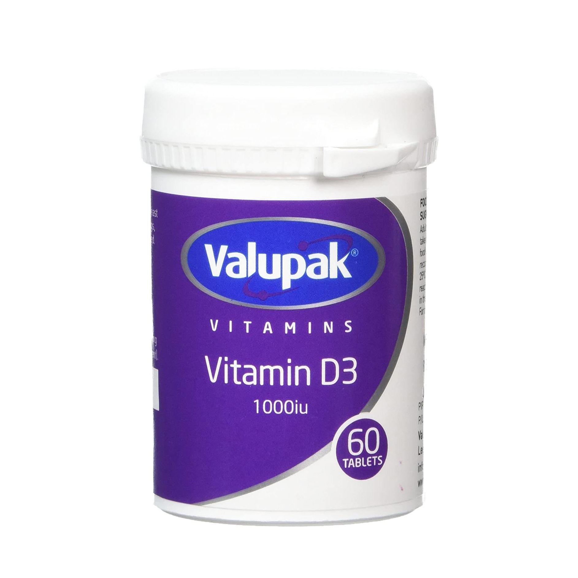 Valupak Vitamin D Tablets Pack of 60 Tablets