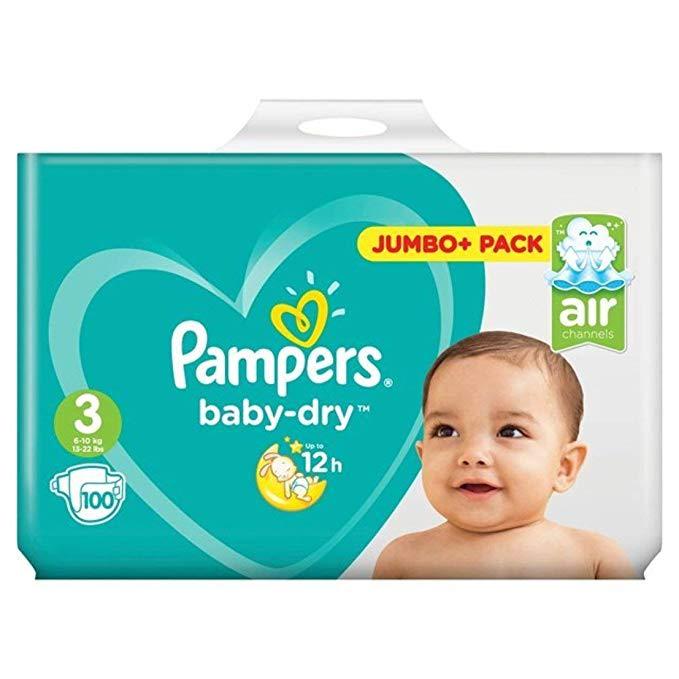 Pampers Baby-Dry Pants Nappy Pants Diaper - Size 3 - 50 pcs / 100 pcs Jumbo Pack