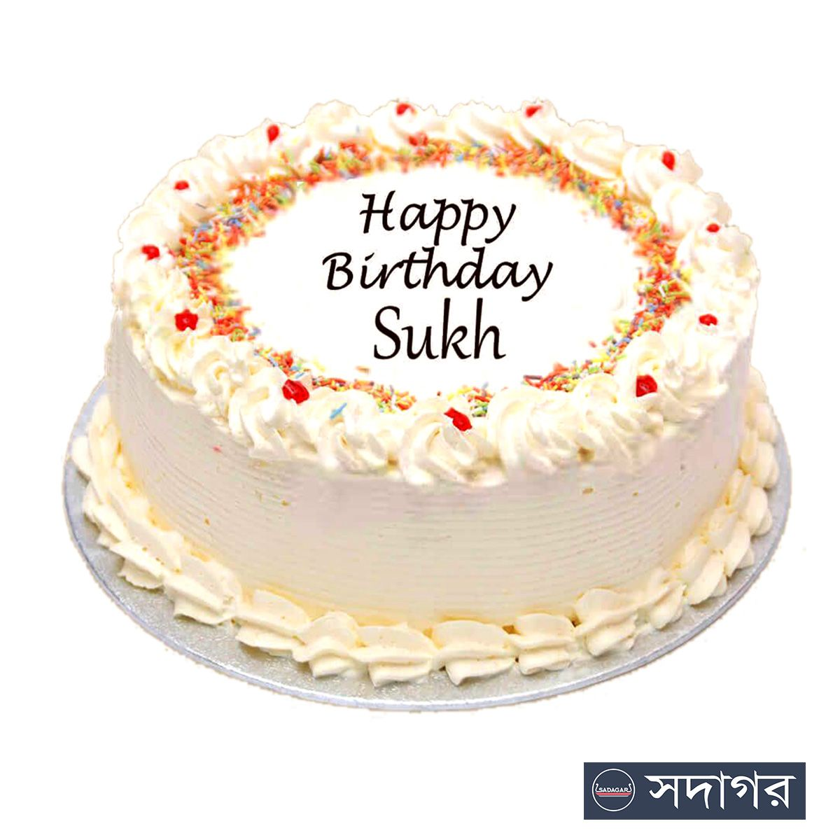Happy Birthday Round Cake Theme 008