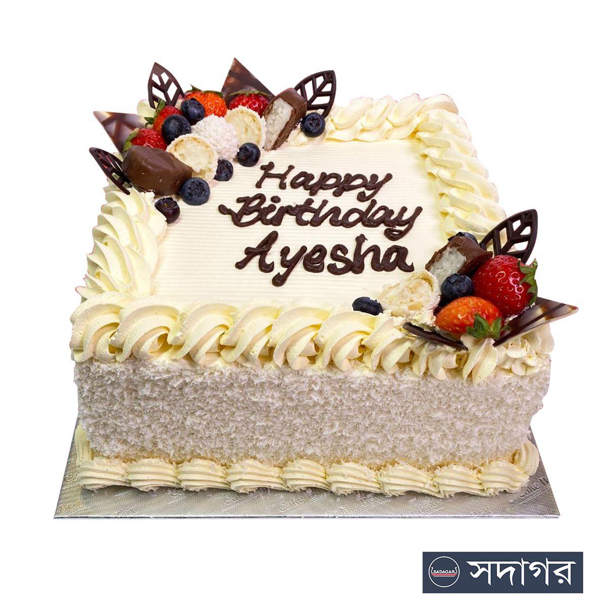 Happy Birthday Square Cake Theme 01