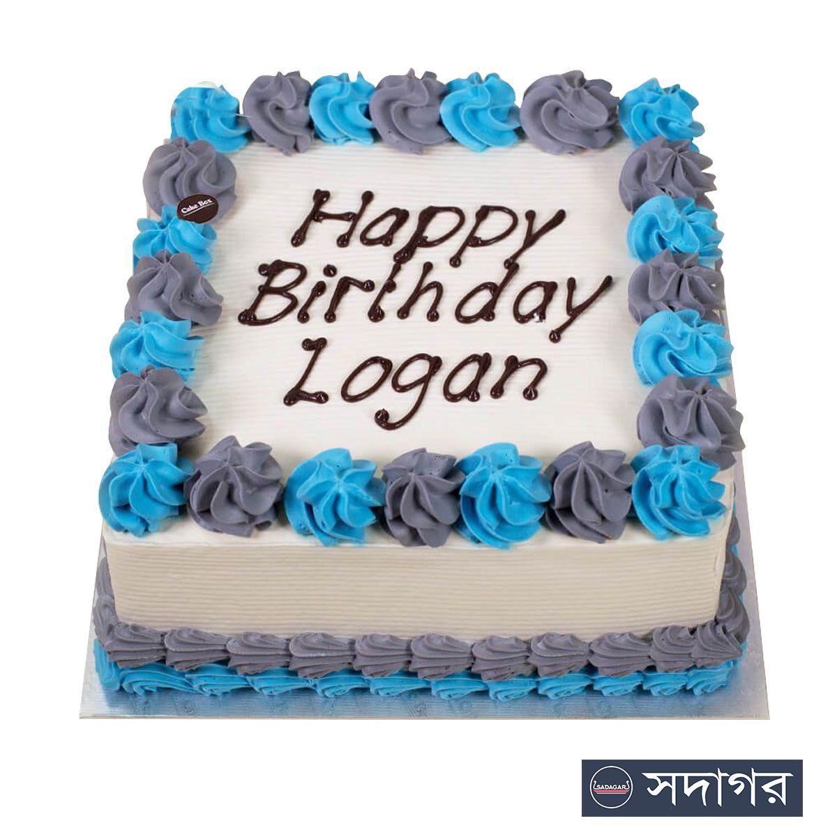 Happy Birthday Square Cake Theme 14