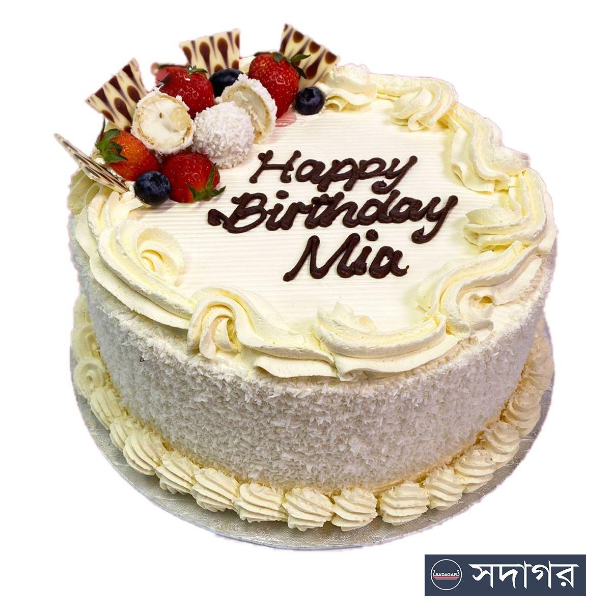 Happy Birthday Round Cake Theme 014