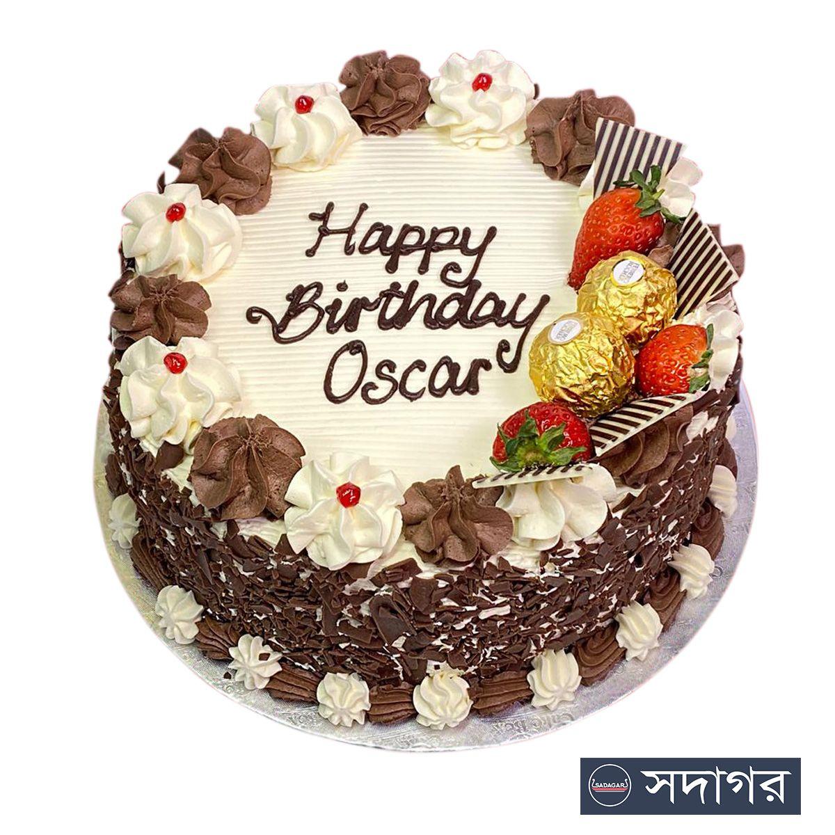Happy Birthday Round Cake Theme 015