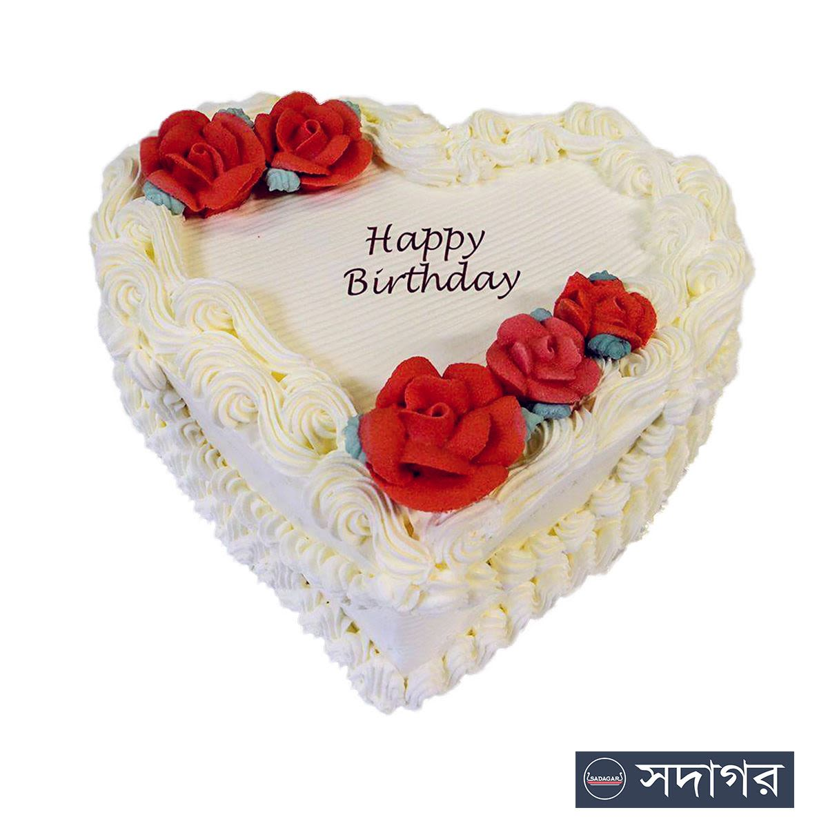 Happy Birthday Heart Cake Theme 01