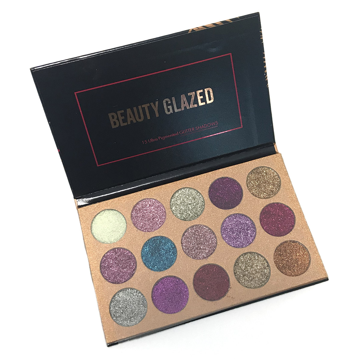 Beauty Glazed 15 Ultra Pressed Glitter Eyeshadow Platte