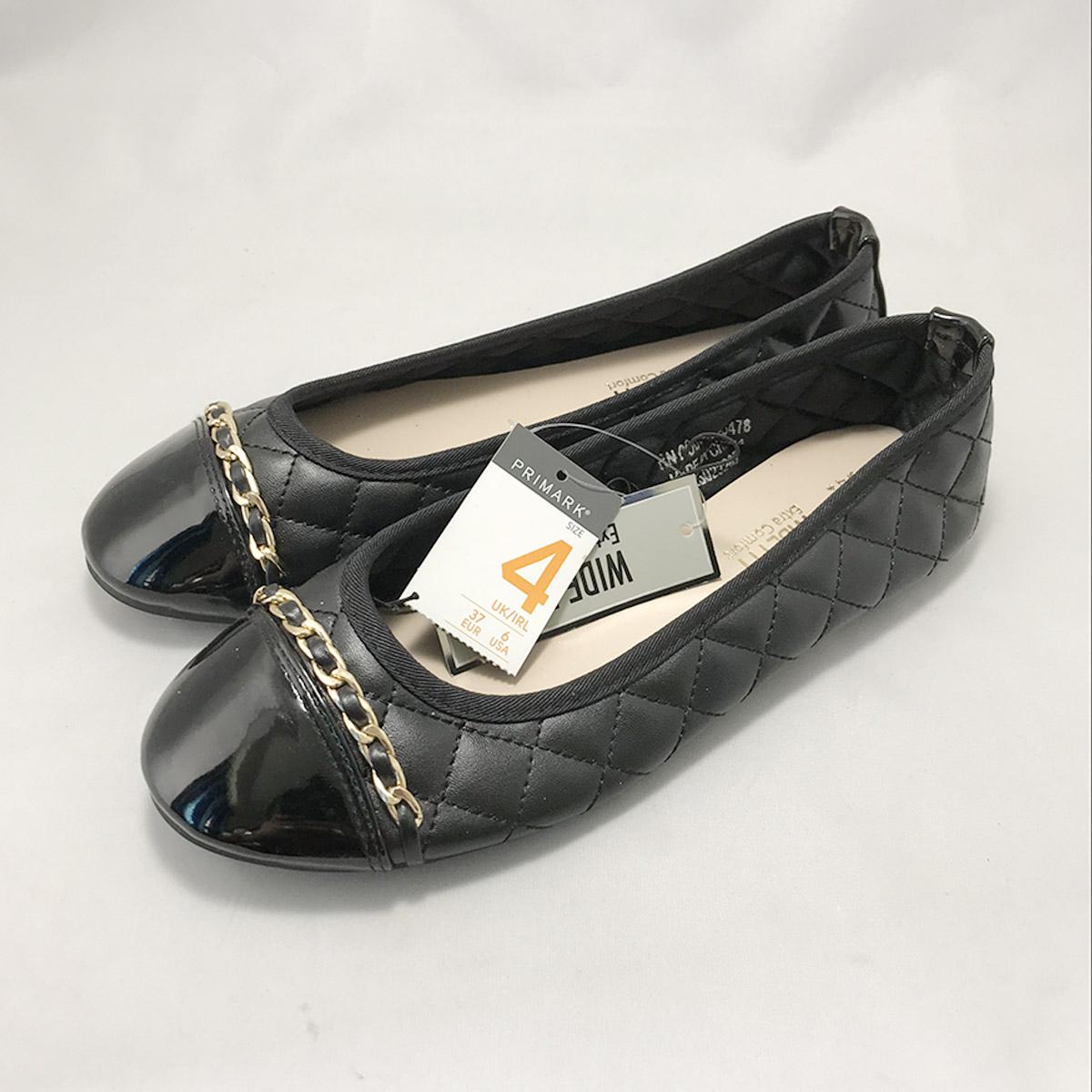 Primark Black Golden Chain Shoe   Sadagar