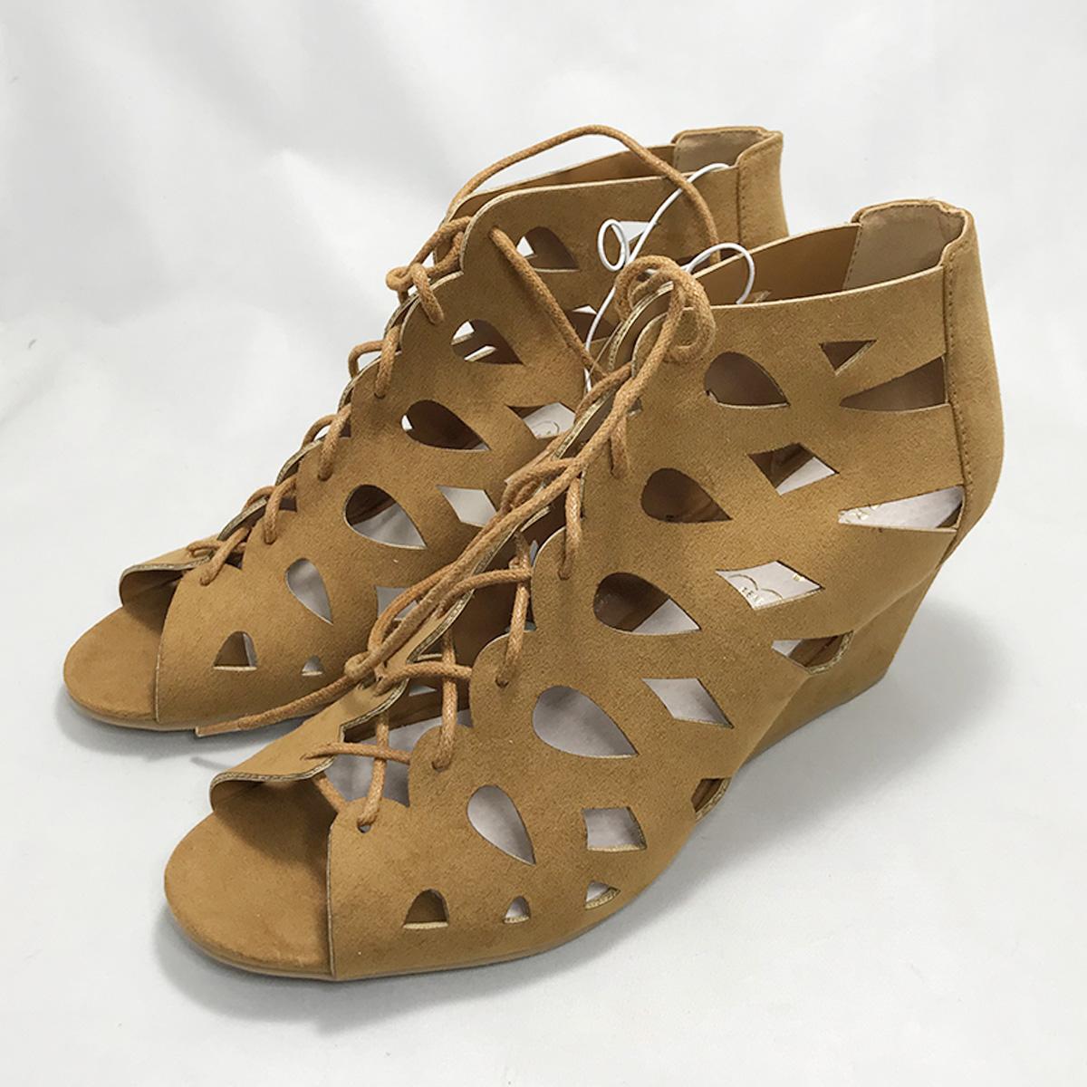Primark Lace Up Block Heel Peep Toe