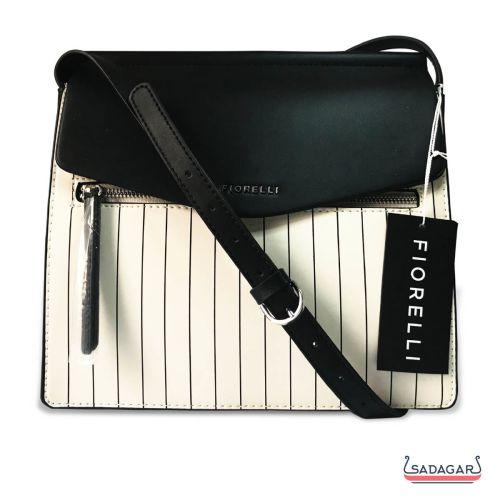 Fiorelli Mia Grabs White Stipe Body Bag With Shoulder Strap